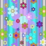 покрасьте цветки безшовной Стоковое Изображение RF