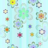 покрасьте цветки безшовными Стоковые Фотографии RF