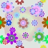 покрасьте цветки безшовным Стоковое фото RF
