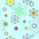 покрасьте цветки безшовным Стоковая Фотография RF