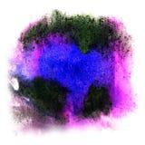 Покрасьте чернила выплеска голубая, зеленая, розовая помарка и белое абстрактное искусство Стоковые Фото