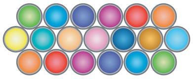 Покрасьте чонсервные банкы стоковое изображение