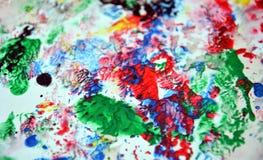 Покрасьте яркие цвета и оттенки Абстрактная влажная предпосылка краски Пятна картины стоковые изображения