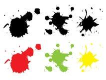 покрасьте grunge modifiable брызгает Стоковая Фотография