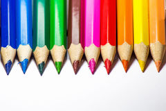 покрасьте multi карандаш белым Стоковые Изображения
