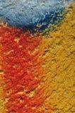 Покрасьте smudged текстурированную стену стоковая фотография rf