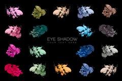 покрасьте swatches Комплект тени глаза Стоковое Изображение