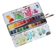 покрасьте watercolour палитры Стоковое Изображение RF