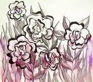Покрашенная абстрактная иллюстрация wildflowers Стоковые Фотографии RF