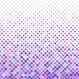 Покрашенная абстрактная раскосная квадратная предпосылка картины - vector дизайн от фиолетовых квадратов Стоковые Изображения