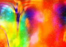 Покрашенная абстракция, картина радуги, цвета зарева Стоковая Фотография