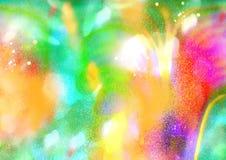 Покрашенная абстракция, картина радуги, цвета зарева Стоковые Фото