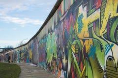 Покрашенная Берлинская стена Стоковое Изображение