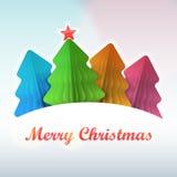 Покрашенная бумага рождественской елки Стоковые Изображения