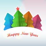 Покрашенная бумага рождественской елки Стоковые Фотографии RF