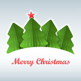 Покрашенная бумага рождественской елки Стоковое Изображение RF