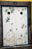 Покрашенная дверь в улице Santa Maria в Фуншале Мадейре Стоковые Изображения RF