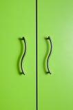 Покрашенная дверь с 2 ручками металла Стоковое Изображение