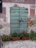 покрашенная дверь Стоковое Изображение