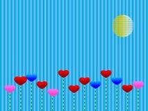 покрашенная влюбленность Стоковое Изображение