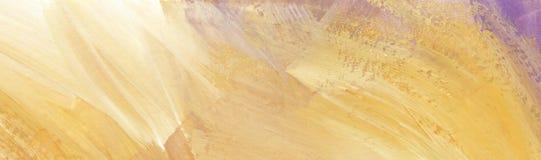 Покрашенная вручную картина маслом абстракции Беспредметная предпосылка В сирен-ocher, белых, светлых цветах иллюстрация вектора