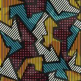 Покрашенная геометрическая безшовная картина Стоковое фото RF