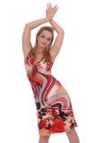 покрашенная девушка много sundress стоковое изображение