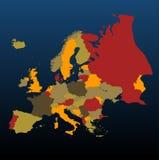 покрашенная европа иллюстрация штока