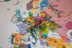 покрашенная европа flags карта Стоковое Изображение