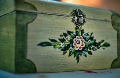 Покрашенная деревянная коробка Стоковое Изображение RF