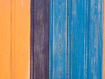 Покрашенная деревянная предпосылка загородки Стоковая Фотография RF