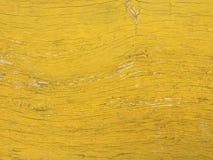Покрашенная желтым цветом старая деревянная предпосылка текстуры планки Стоковое фото RF