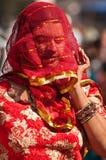 покрашенная женщина вуали нося Стоковое Фото