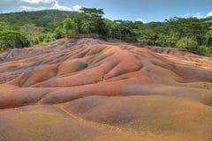 Покрашенная земля, Chamarel, Маврикий Стоковые Фото