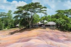 7 покрашенная земля в Маврикии, заповеднике Chamarel Стоковое Фото