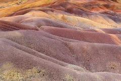 7 покрашенная земля в Chamarel Стоковые Фотографии RF