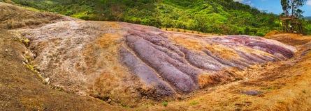 покрашенная земля Маврикий панорама Стоковое Фото