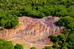 7 покрашенная земля Маврикий Стоковые Фото