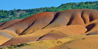 7 покрашенная земля Маврикий Стоковое Изображение RF