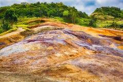 покрашенная земля Маврикий Стоковые Фотографии RF