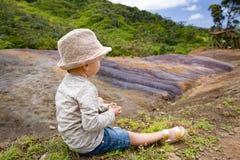 покрашенная земля Маврикий Стоковое Изображение