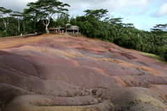 Покрашенная земля Маврикия Стоковая Фотография