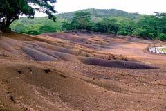 7 покрашенная земля, Chamarel Стоковое фото RF