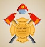 Покрашенная иллюстрация вектора, значок пожарный Стоковое Изображение