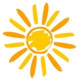 Покрашенная иллюстрация Солнця Стоковое Фото