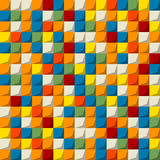 Покрашенная картина мозаики безшовная Стоковое фото RF