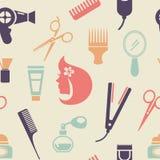 Покрашенная картина парикмахерскаи Стоковые Изображения RF