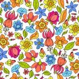 Покрашенная картина цветков Стоковые Изображения
