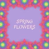 покрашенная карточка цветет приветствие Карточка приглашения для wedding, иллюстрация вектора
