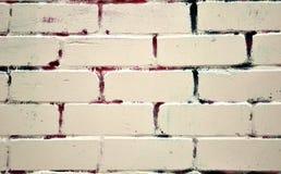 Покрашенная кирпичная стена Стоковые Фото